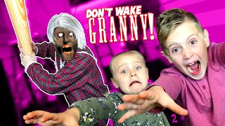 Don't Wake GRANNY! Granny Horror Game in Real Life with MOMCITY! KIDCITY