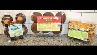 Trader Joe's  Dark Chocolate Peanut Butter Cupcakes, Whoopee Pies & Inside Out Carrot Cake Review
