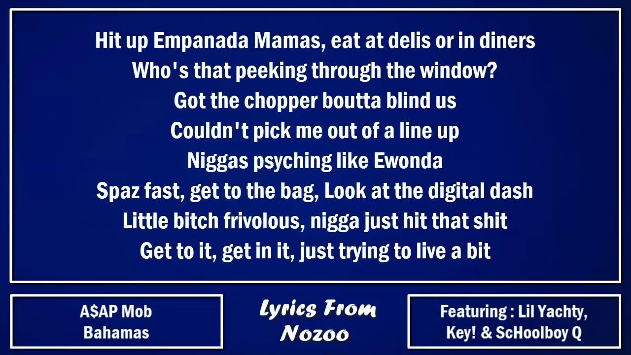 A$AP Mob Bahamas (Lyrics) Ft. A$AP Rocky, A$AP Ferg, Lil Yachty, ScHoolboy Q