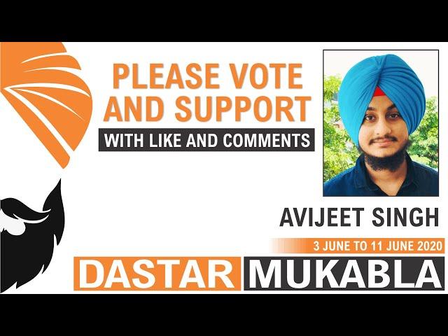 AVIJEET SINGH || Dhansikhi Dastar Mukabla || Dhansikhi Turban Tying Compitition 2020