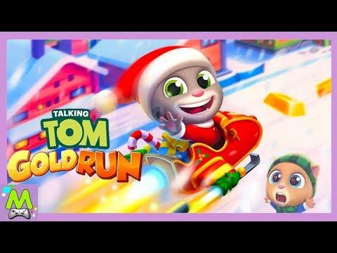Говорящий Том Бег за Золотом.Новогоднее Обновление Игры.Новый Герой Санта Том