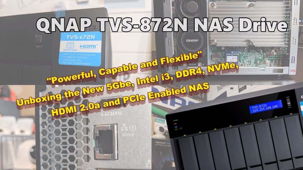 Unboxing the QNAP TVS-872N 5Gbe NAS Drive