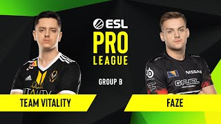 CS:GO - FaZe vs. Team Vitality [Mirage] Map 2 - Group B - ESL EU Pro League Season 10