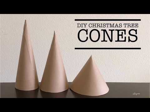 3 different ways to make a cone base for diy christmas tree