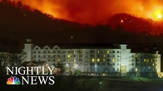 Tennessee Wildfires Ravage Resort Town, Leave 3 Dead; 14,000 Evacuate | NBC Nightly News