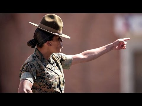 Drill Instructor Gives Female Enlistees A Taste Of Marine Boot Camp