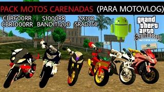 | PACK DE MOTOS CARENADAS (PARA MOTOVLOG) | GTA SA ANDROID MODS |