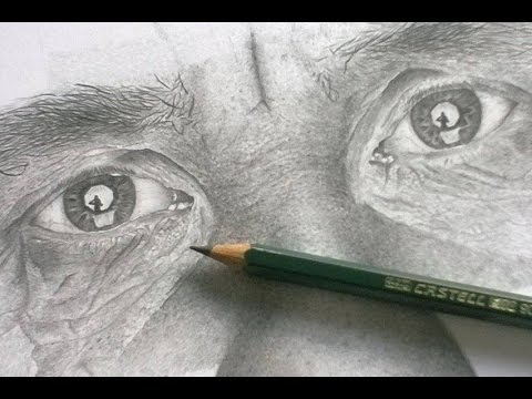 Hyper realistic portrait  drawing tutorial