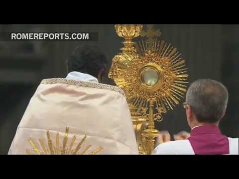 Millions join Pope for simultaneous worldwide Eucharistic Adoration