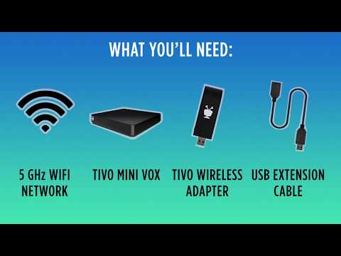 TiVo Tutorial | How To Set Up The USB WiFi 5 Adapter