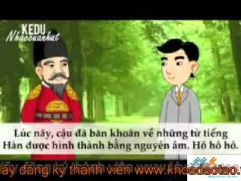 Học Tiếng Hàn Sơ Cấp Bằng Phim Hoạt Hình   Bài 2  Chỉ Bằng Nguyên Âm Cũng Tạo Ra Từ Mới