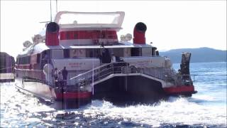 Hellenic Seaways FlyingCat 4 Catamaran at Santorini Athinios Port