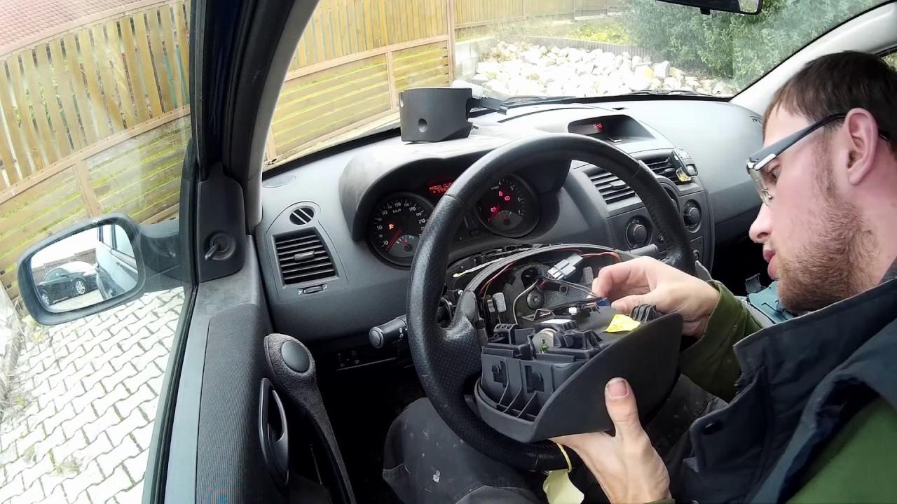 Très Výměna volantu u Renault Megane II, Scenic II - YouTube NN85