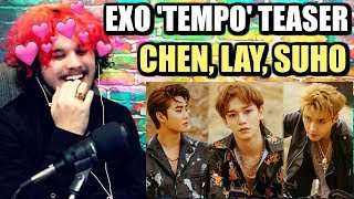 Download Video EXO 'DON'T MESS UP MY TEMPO' CHEN, LAY & SUHO TEASER | REACTION!! MP3 3GP MP4