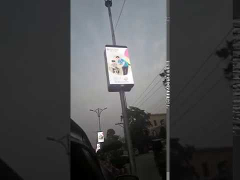Street Pole Advertising LED Screen