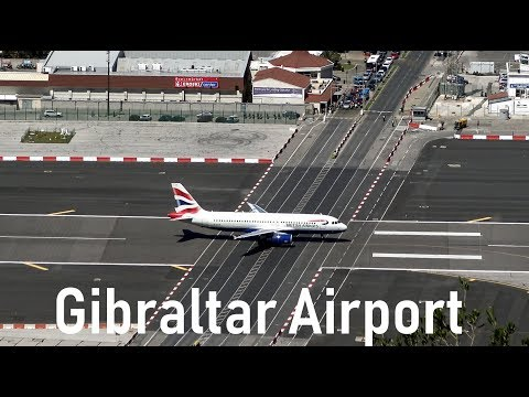 Dangerous Gibraltar Airport | British Airways @ Gibraltar | 4K | 09.04.2016