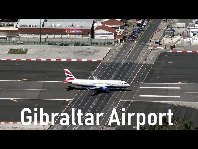 Dangerous Gibraltar Airport | British Airways @ Gibraltar | 4K