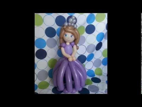 Como hacer a la princesa sofia con globos youtube - Como hacer figuras con globos ...