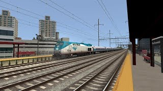 Train Simulator 2019 HD: Amtrak GE P32AC-DM Northeast Corridor Speed Test (100 MPH)