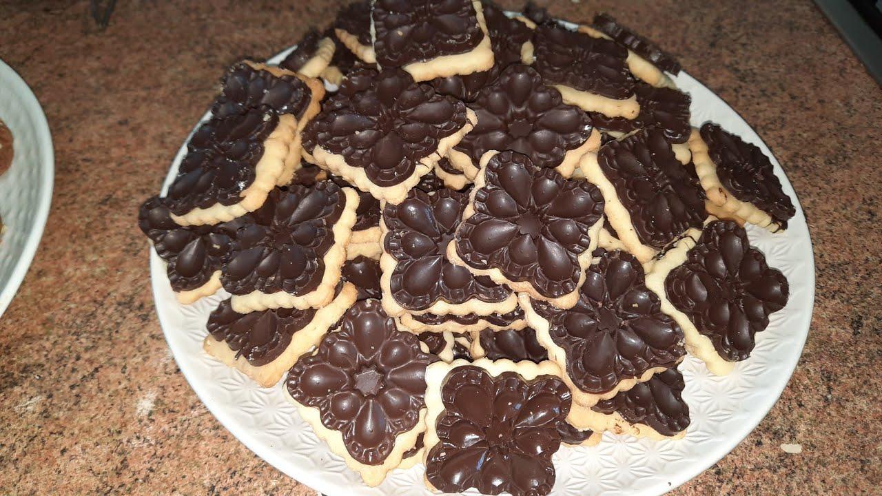 galletas marroquís de chocolate sólo con un huevo  muy ricas y tiernas