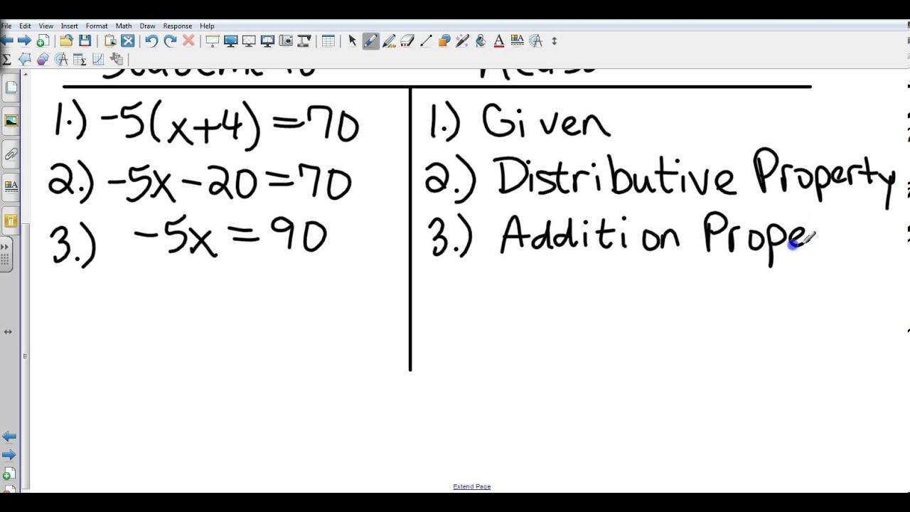 Geometry 2 6 Algebraic Proofs