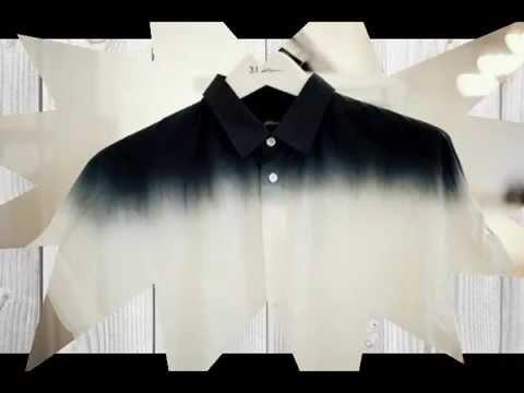 Рубашка с градиентом цвета