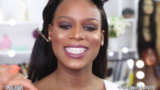Hair And Makeup TRANSFORMATION |Red Carpet Glow| ISEE HAIR ALIEXPRESS