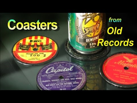 How To Make Coasters Out Of Old Records Youtube