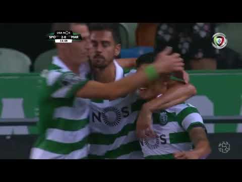 Goal | Golo Montero: Sporting (2)-0 Marítimo (Liga 18/19 #6)