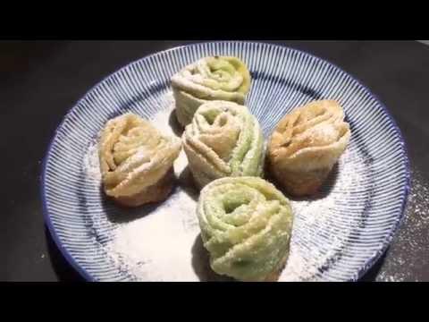 酥炸玫瑰餃
