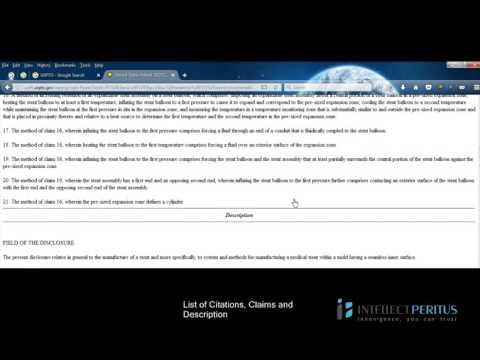 US Patent Office Basic Tutorial