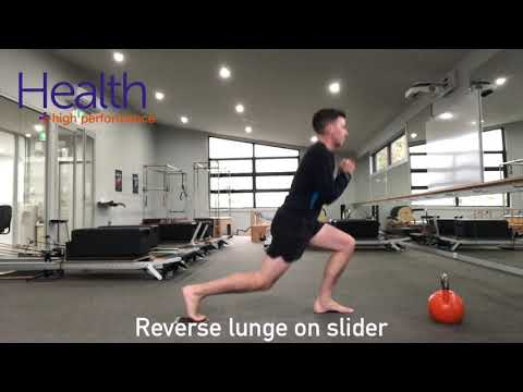 Reverse lunges for quad & hip flexor strength | Melbourne Sports Chiropractor