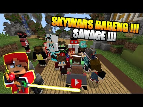 KETIKA RAFLI MAIN SKYWARS BARENG SUBSCRIBERS DI MINECRAFT PE !!! SAVAGE DAH - 동영상
