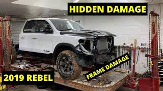 Rebuilding Frame Damage  Wrecked 2019 Dodge Rebel from Copart