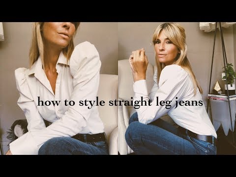How To Style Straight Leg Jeans   Autumn Style