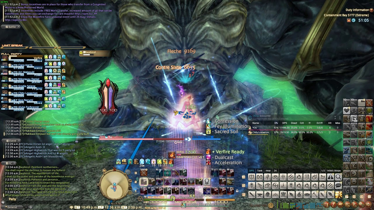 [FFXIV] Sephirot Extreme unsync as Red Mage!