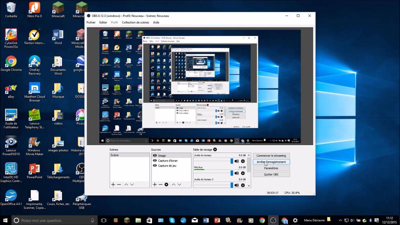 Comment filmer son cran de pc avec obs gratuitement for Photo ecran logiciel