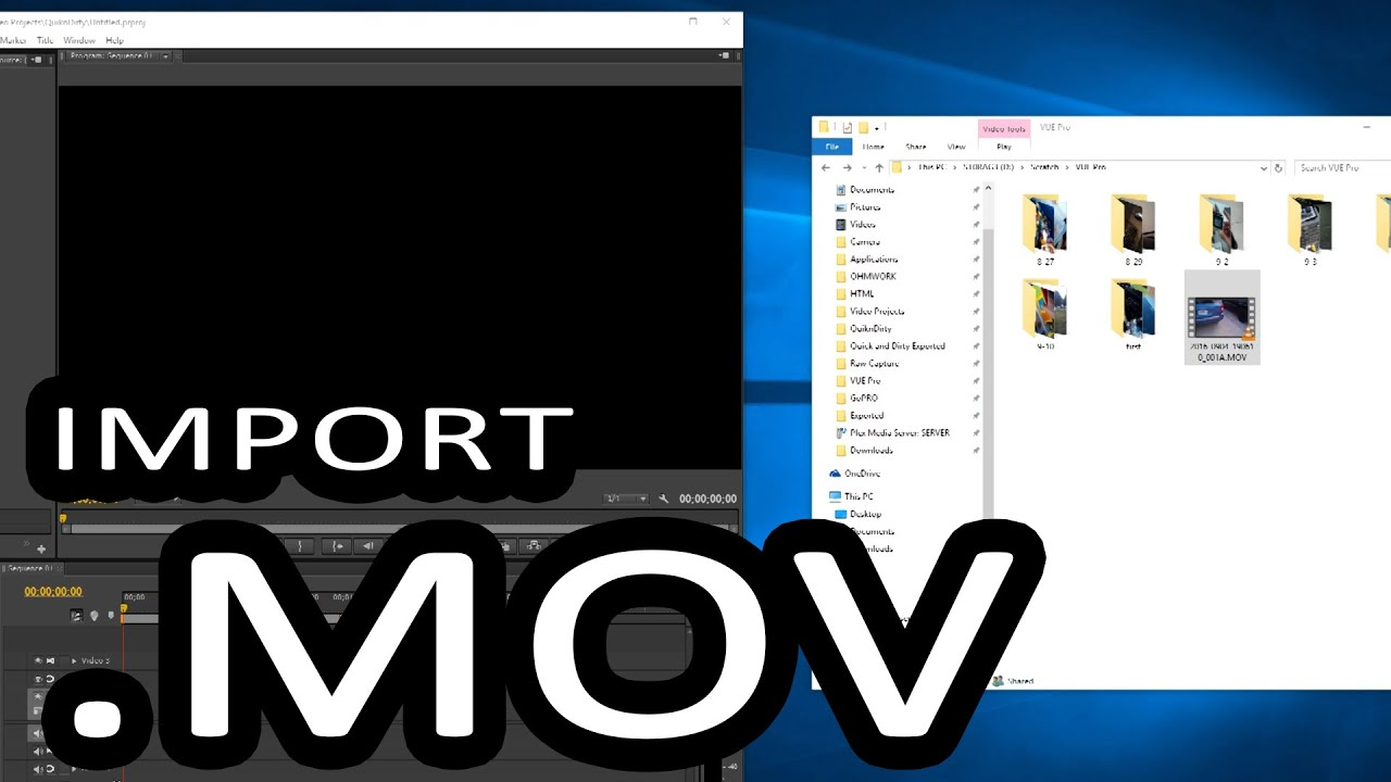 How to Import  MOV files into Adobe Premiere / Bulk Extension Changer
