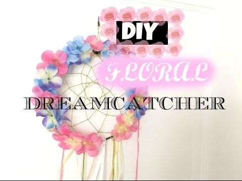 DIY Floral Dreamcatcher