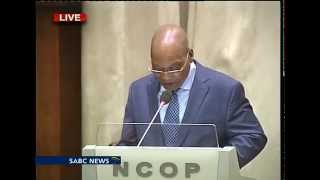 President Jacob Zuma addresses the NCOP