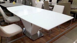 Белые столы для дома и офиса. Стол обеденный DETROIT (Детройт)