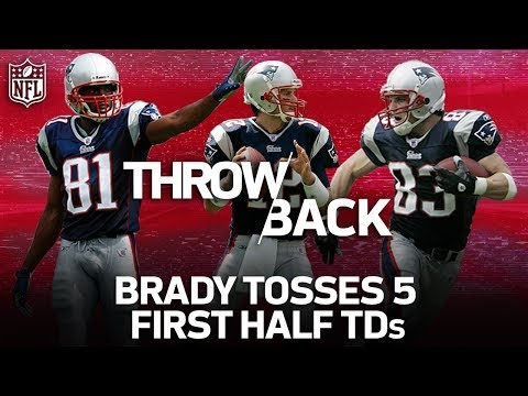 Tom Brady & the '07 Patriots Light Up Miami with 5 TD's IN THE FIRST HALF | NFL Highlights