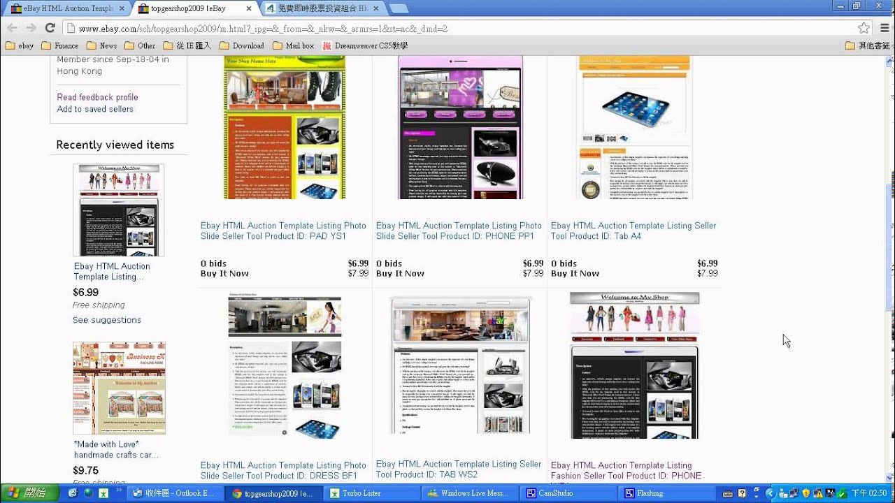 HTML Ebay Template WP Sample Preview YouTube - Buy ebay template