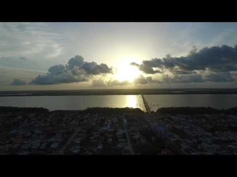 Beautiful Sunset & The Demerara Harbor Bridge- Guyana Aerial