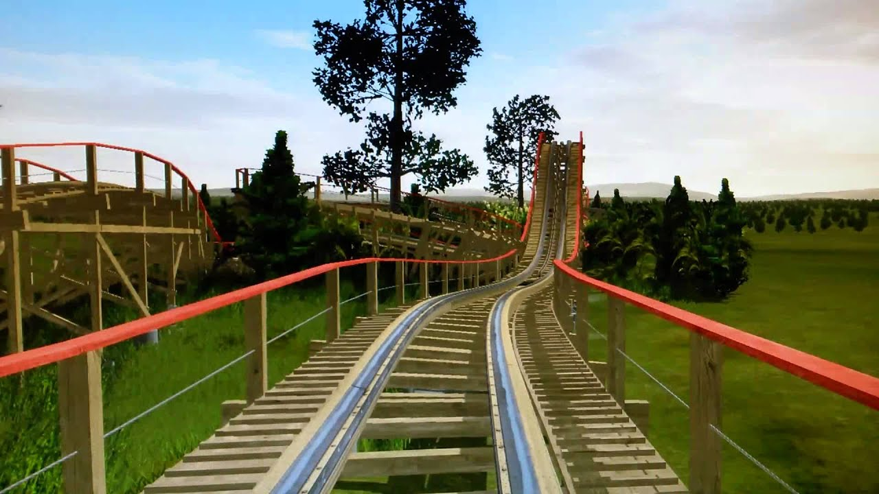 Timberliner back yard roller coaster No limits 2. - YouTube