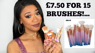 TESTING AFFORDABLE BRUSH SET AND NEW MAKEUP!