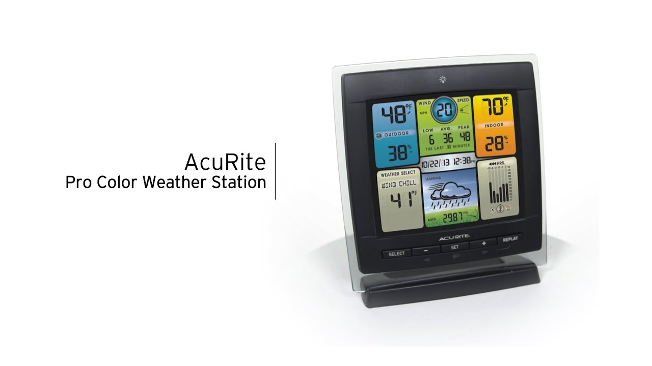 acurite 01604 pro color digital weather station with wind speed