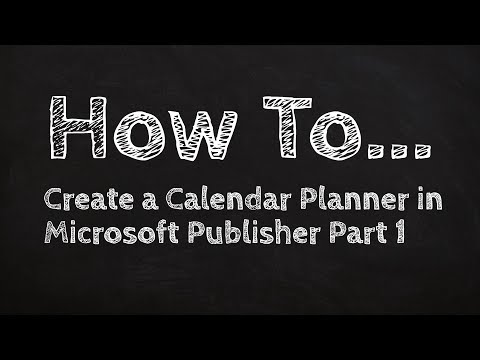How to Create a Calendar Planner in Microsoft Publisher Part 1 streaming vf