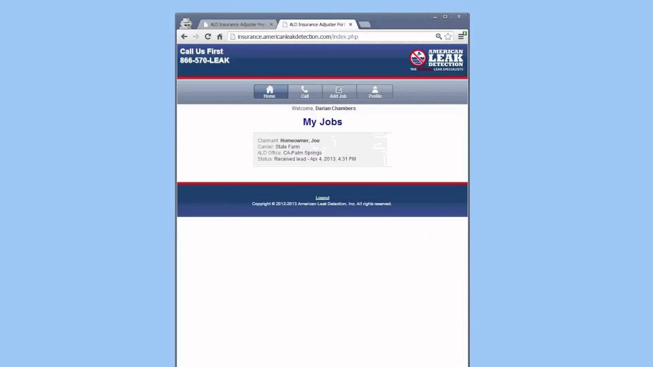 American Leak Detection Insurance Mobile