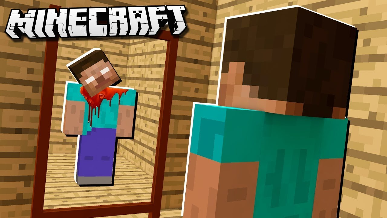 DON'T LOOK INTO THIS MINECRAFT MIRROR